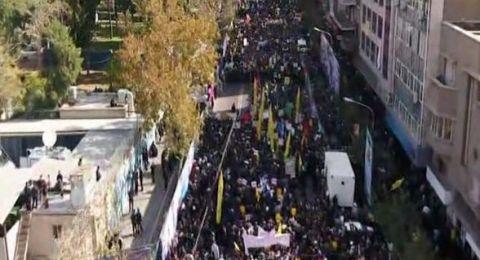في يوم تصعيد العقوبات.. مسيرات في طهران أمام مقر السفارة الأميركية السابق